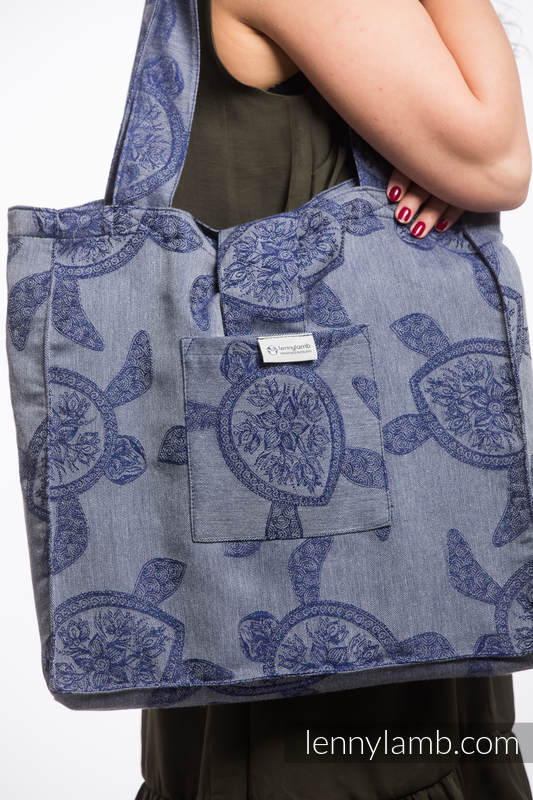 Shoulder bag made of wrap fabric (100% cotton) - SEA ADVENTURE - CALM BAY - standard size 37cmx37cm #babywearing