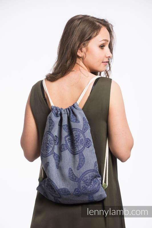 Plecak/worek - 100% bawełna - PRZYGODA MORSKA - CICHA ZATOKA - uniwersalny rozmiar 32cmx43cm #babywearing