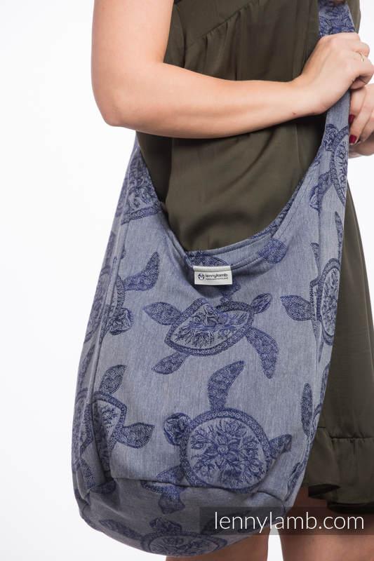 Torba Hobo z materiału chustowego, (100% bawełna) - PRZYGODA MORSKA - CICHA ZATOKA #babywearing