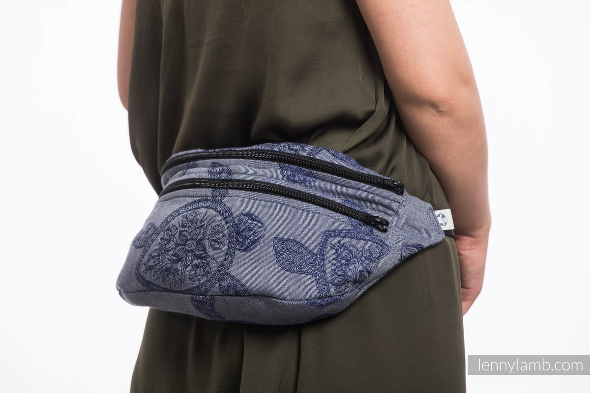 Waist Bag made of woven fabric, size large (100% cotton) - SEA ADVENTURE - CALM BAY #babywearing