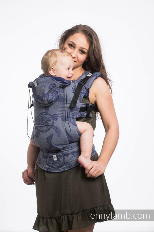 Nosidełko Ergonomiczne z tkaniny żakardowej 100% bawełna , Toddler Size, PRZYGODA MORSKA - CICHA ZATOKA - Druga Generacja #babywearing