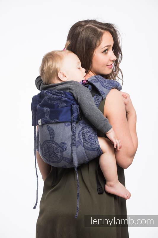 Nosidło Klamrowe ONBUHIMO z tkaniny żakardowej (100% bawełna), rozmiar Standard - PRZYGODA MORSKA - CICHA ZATOKA #babywearing