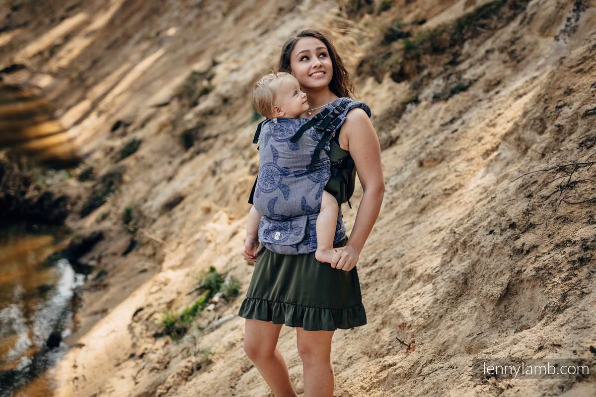 Nosidełko LennyUp z tkaniny żakardowej 100% bawełna , rozmiar standard, PRZYGODA MORSKA - CICHA ZATOKA #babywearing