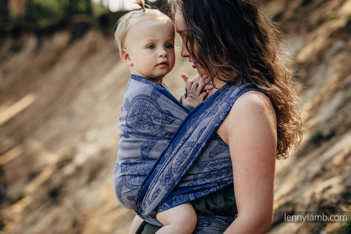 Fular, tejido jacquard (100% algodón) - SEA ADVENTURE - CALM BAY - talla XL #babywearing