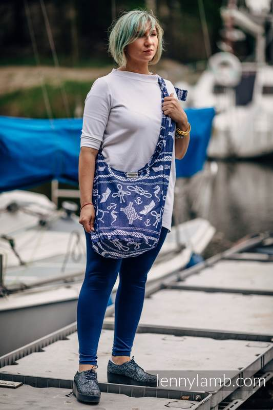 Hobo Bag made of woven fabric, 100% cotton - SEA STORIES #babywearing