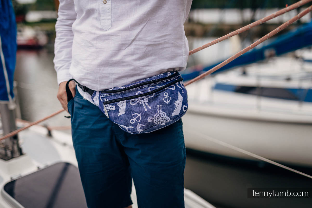 Waist Bag made of woven fabric, size large (100% cotton) - SEA STORIES #babywearing