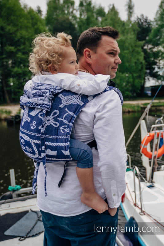 Lenny Buckle Onbuhimo, standard size, jacquard weave (100% cotton) - Wrap conversion from SEA STORIES #babywearing