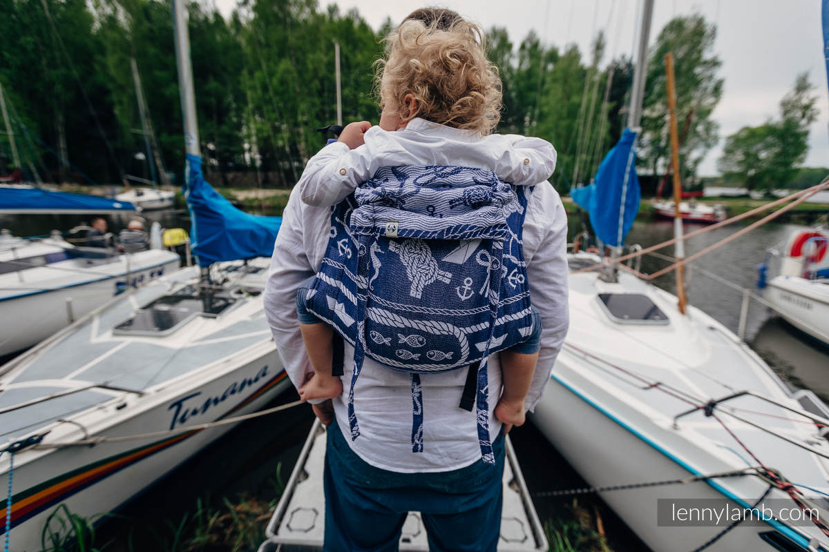 Lenny Buckle Onbuhimo baby carrier, standard size, jacquard weave (100% cotton) - SEA STORIES #babywearing