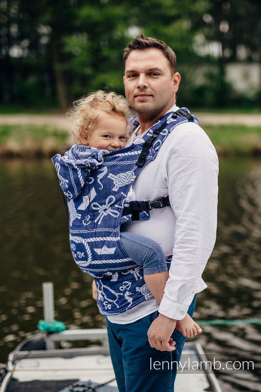Ergonomic Carrier, Baby Size, jacquard weave 100% cotton - SEA STORIES - Second Generation #babywearing