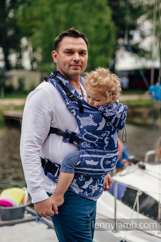 Nosidełko Ergonomiczne z tkaniny żakardowej 100% bawełna , Toddler Size, MORSKIE OPOWIEŚCI - Druga Generacja #babywearing