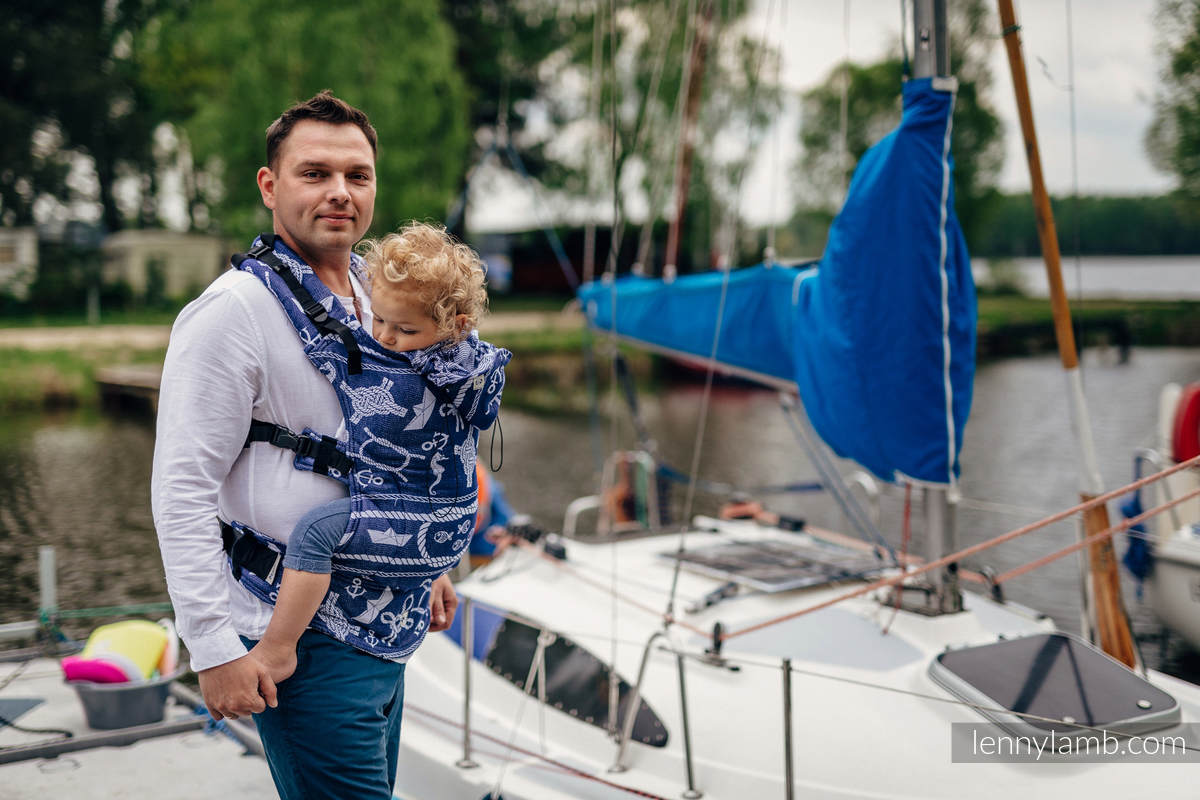 Ergonomic Carrier, Baby Size, jacquard weave 100% cotton - wrap conversion from SEA STORIES - Second Generation #babywearing