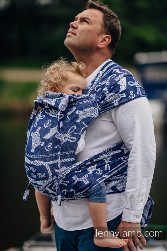 WRAP-TAI carrier Toddler with hood/ jacquard twill / 100% cotton - SEA STORIES #babywearing