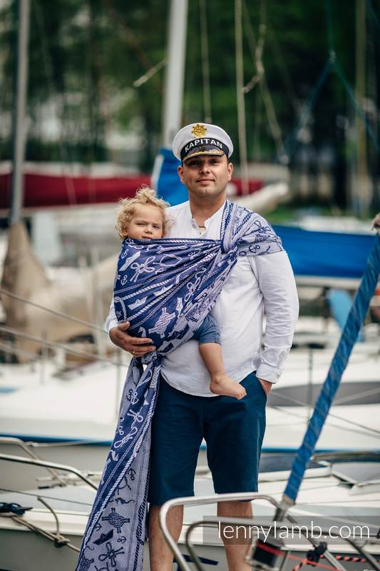 Baby Wrap, Jacquard Weave (100% cotton) - SEA STORIES - size L #babywearing