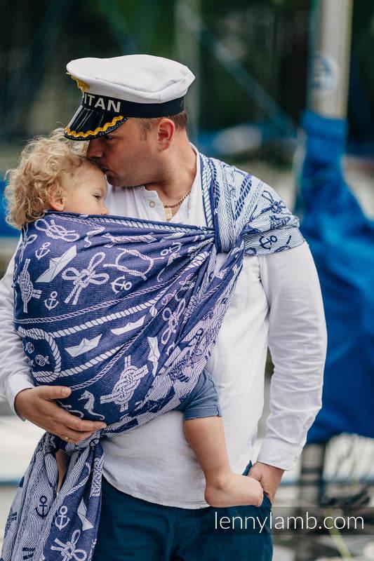 Baby Wrap, Jacquard Weave (100% cotton) - SEA STORIES - size L (grade B) #babywearing