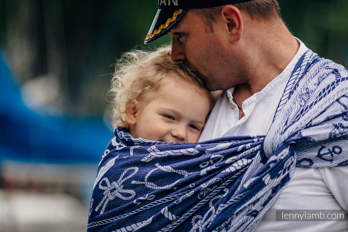 Fular, tejido jacquard (100% algodón) - SEA STORIES - talla XS #babywearing