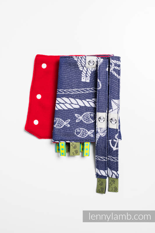 Drool Pads & Reach Straps Set, (60% cotton, 40% polyester) - SEA STORIES #babywearing