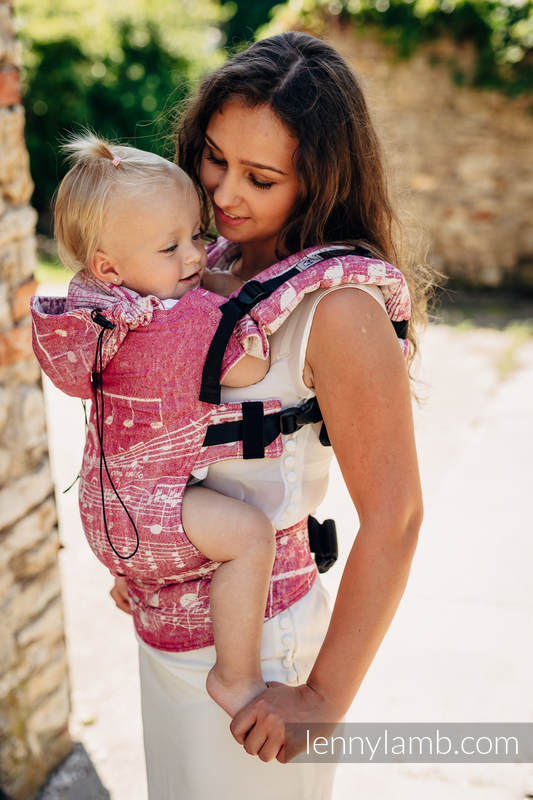 Ergonomic Carrier, Toddler Size, jacquard weave - 62% cotton, 38% silk - SYMPHONY SWEETNESS, Second Generation #babywearing