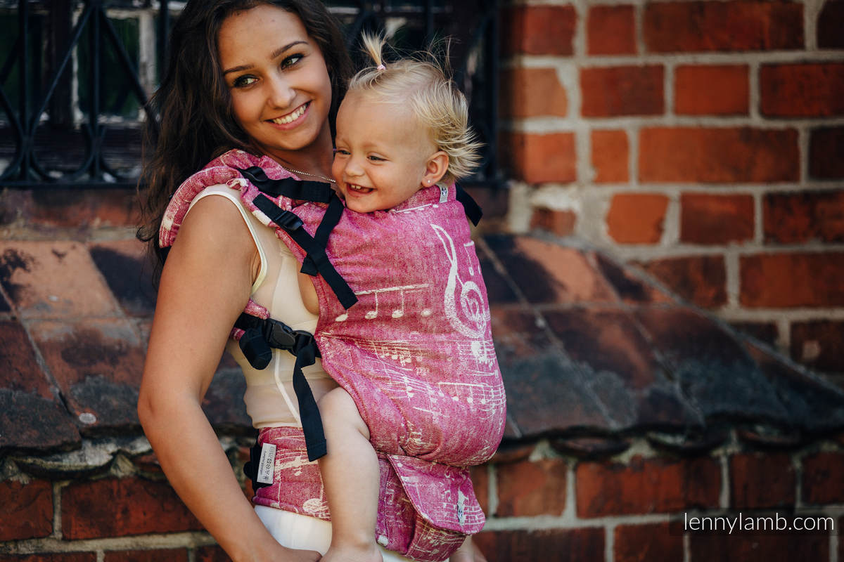 LennyUp Carrier, Standard Size, jacquard weave - 62% cotton, 38% silk - SYMPHONY SWEETNESS #babywearing