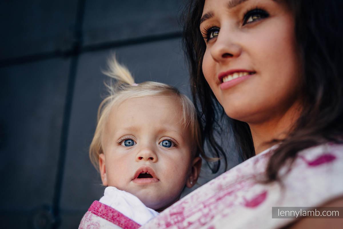 Baby Wrap, Jacquard Weave - 62% cotton, 38% silk - SYMPHONY SWEETNESS - size XS #babywearing