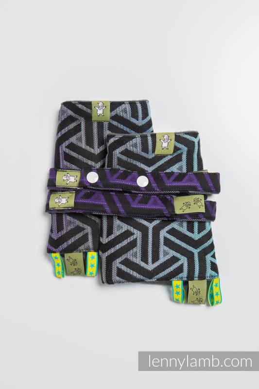 Drool Pads & Reach Straps Set, (60% cotton, 40% polyester) - TRINITY COSMOS (grade B) #babywearing
