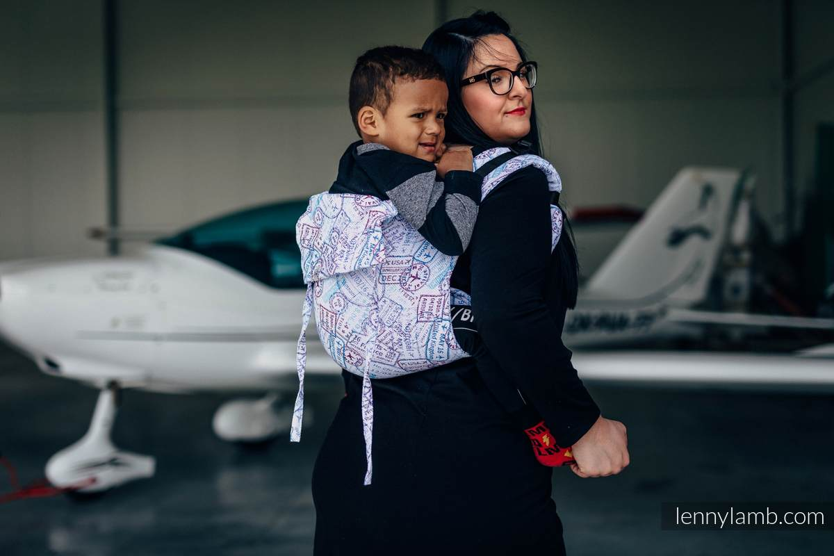 Lenny Buckle Onbuhimo, standard size, jacquard weave (100% cotton) - Wrap conversion from AROUND THE WORLD #babywearing