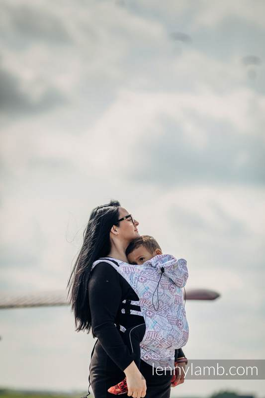 Nosidełko Ergonomiczne z tkaniny żakardowej 100% bawełna , Baby Size, DOOKOŁA ŚWIATA - Druga Generacja #babywearing