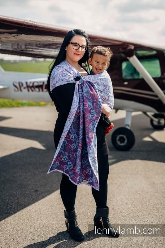 Ringsling, Jacquard Weave (100% cotton) - AROUND THE WORLD - long 2.1m #babywearing