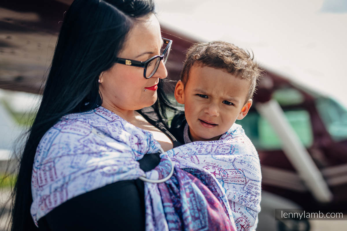 Ringsling, Jacquard Weave (100% cotton) - AROUND THE WORLD #babywearing