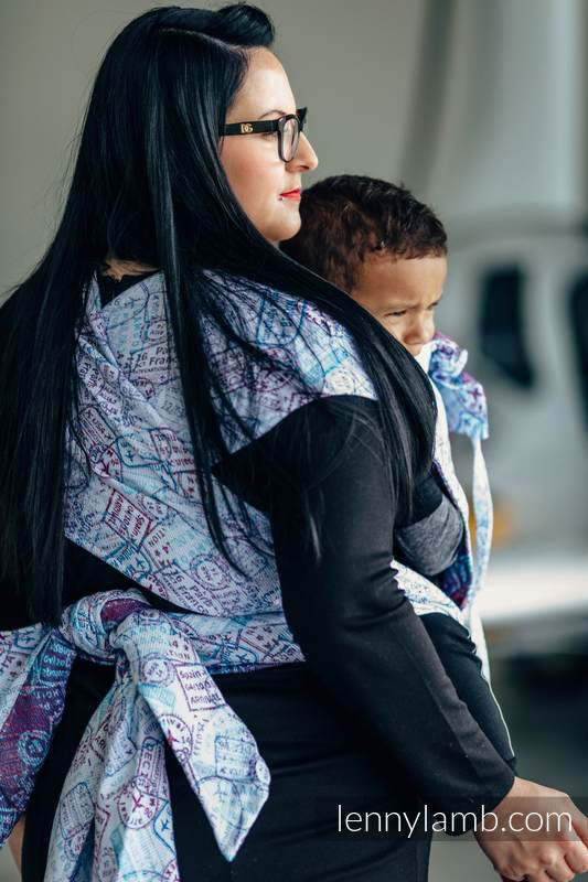 WRAP-TAI carrier Toddler with hood/ jacquard twill / 100% cotton / AROUND THE WORLD #babywearing