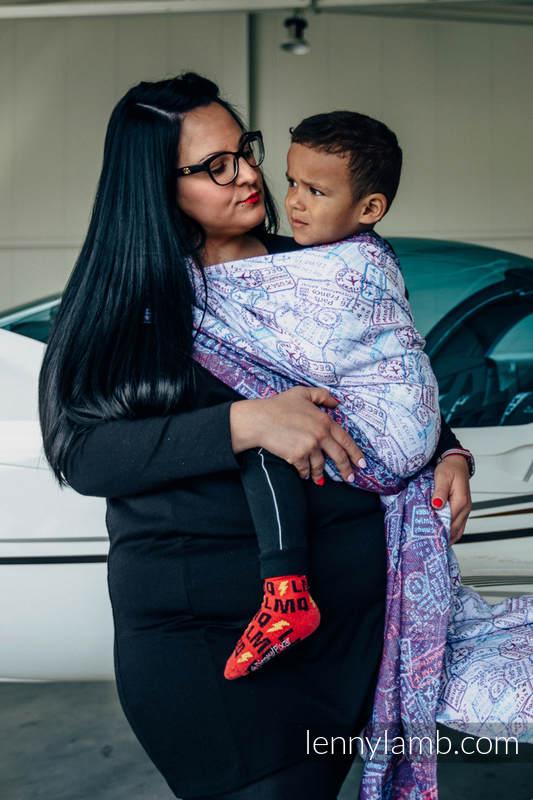 Żakardowa chusta do noszenia dzieci, bawełna - DOOKOŁA ŚWIATA - rozmiar M #babywearing