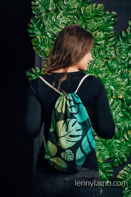 Plecak/worek - 100% bawełna - MONSTERA - uniwersalny rozmiar 32cmx43cm #babywearing