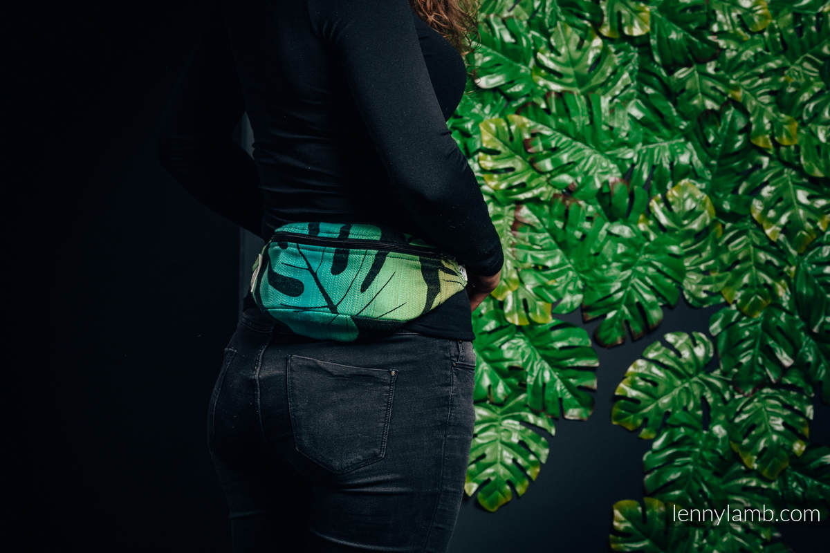 Waist Bag made of woven fabric, (100% cotton) - MONSTERA  #babywearing