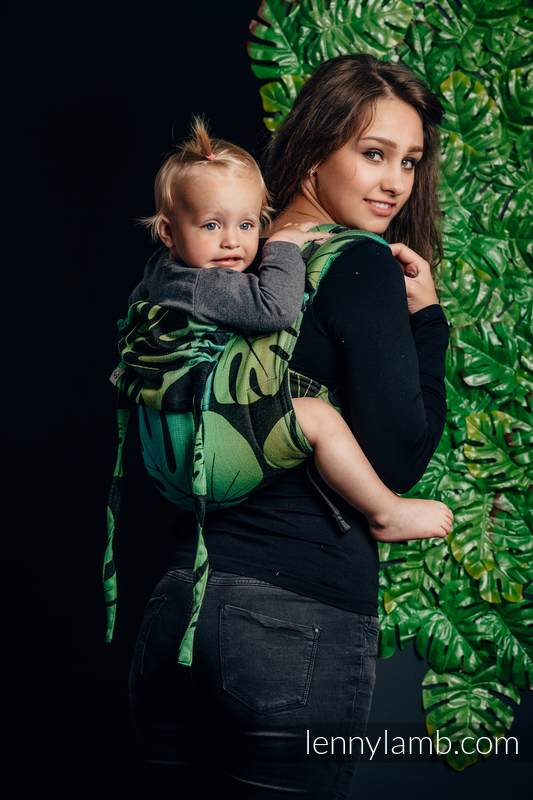 Lenny Buckle Onbuhimo, standard size, jacquard weave (100% cotton) - Wrap conversion from MONSTERA  #babywearing