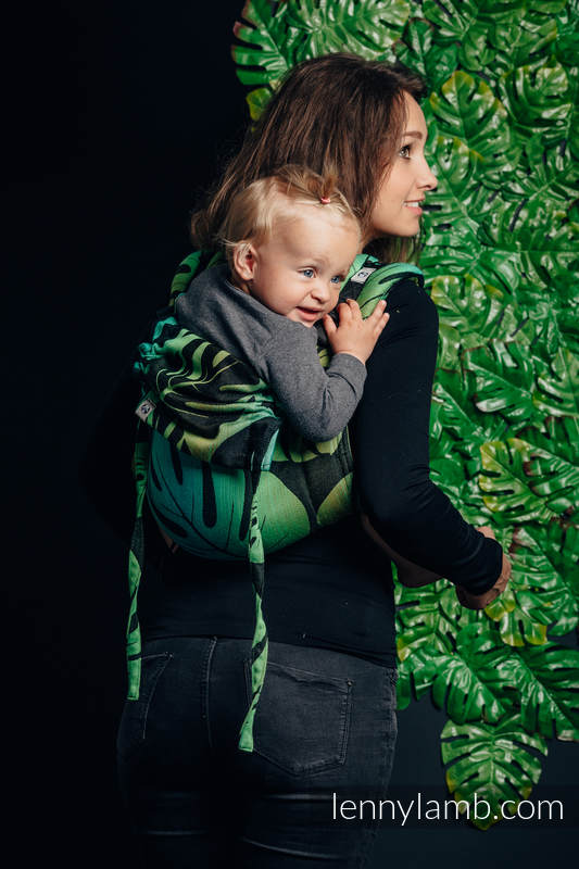 Lenny Buckle Onbuhimo, toddler size, jacquard weave (100% cotton) - Wrap conversion from MONSTERA  #babywearing