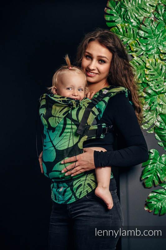 Nosidełko Ergonomiczne z tkaniny żakardowej 100% bawełna , Baby Size, MONSTERA - Druga Generacja #babywearing