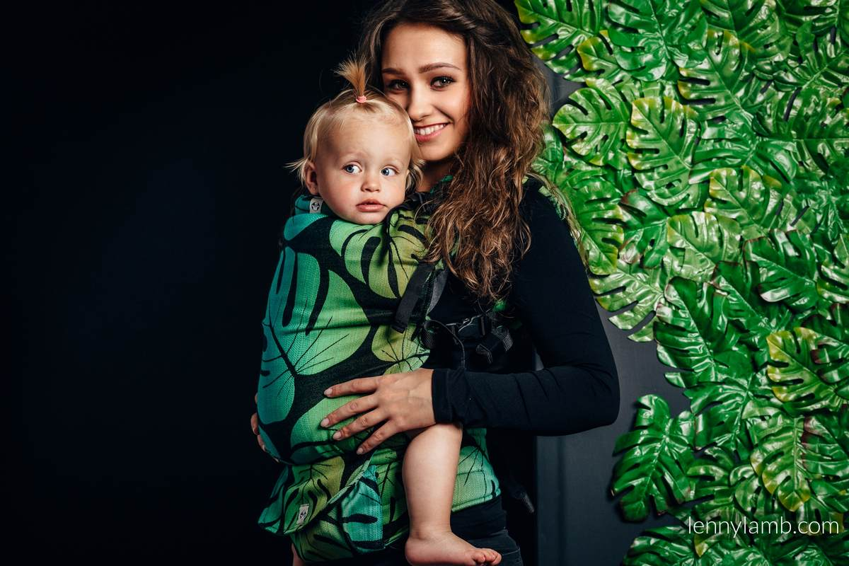 LennyUp Carrier, Standard Size, jacquard weave 100% cotton - wrap conversion from MONSTERA  #babywearing