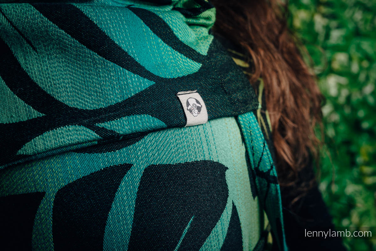 WRAP-TAI carrier MINI with hood/ jacquard twill / 100% cotton - MONSTERA #babywearing
