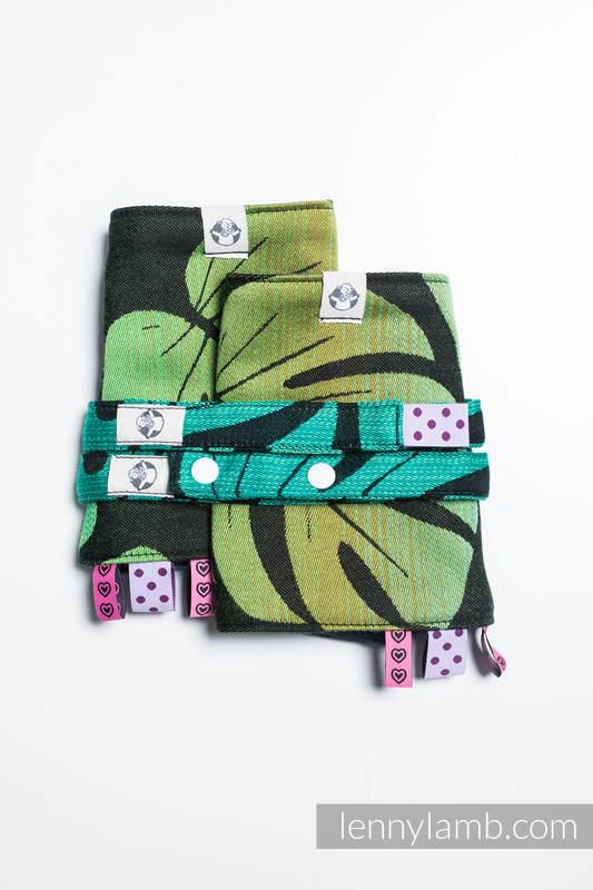 Drool Pads & Reach Straps Set, (100% cotton) - MONSTERA  #babywearing