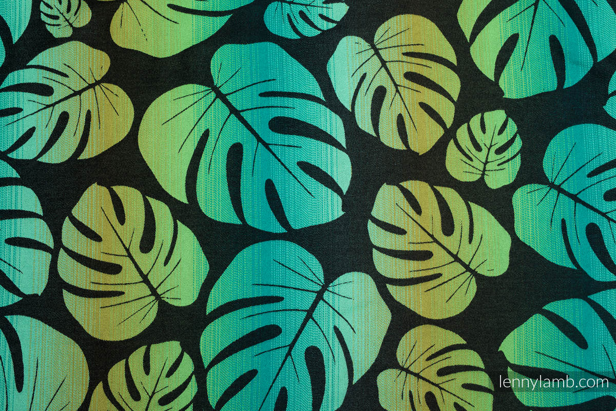 Baby Wrap, Jacquard Weave (100% cotton) - MONSTERA - size XS #babywearing
