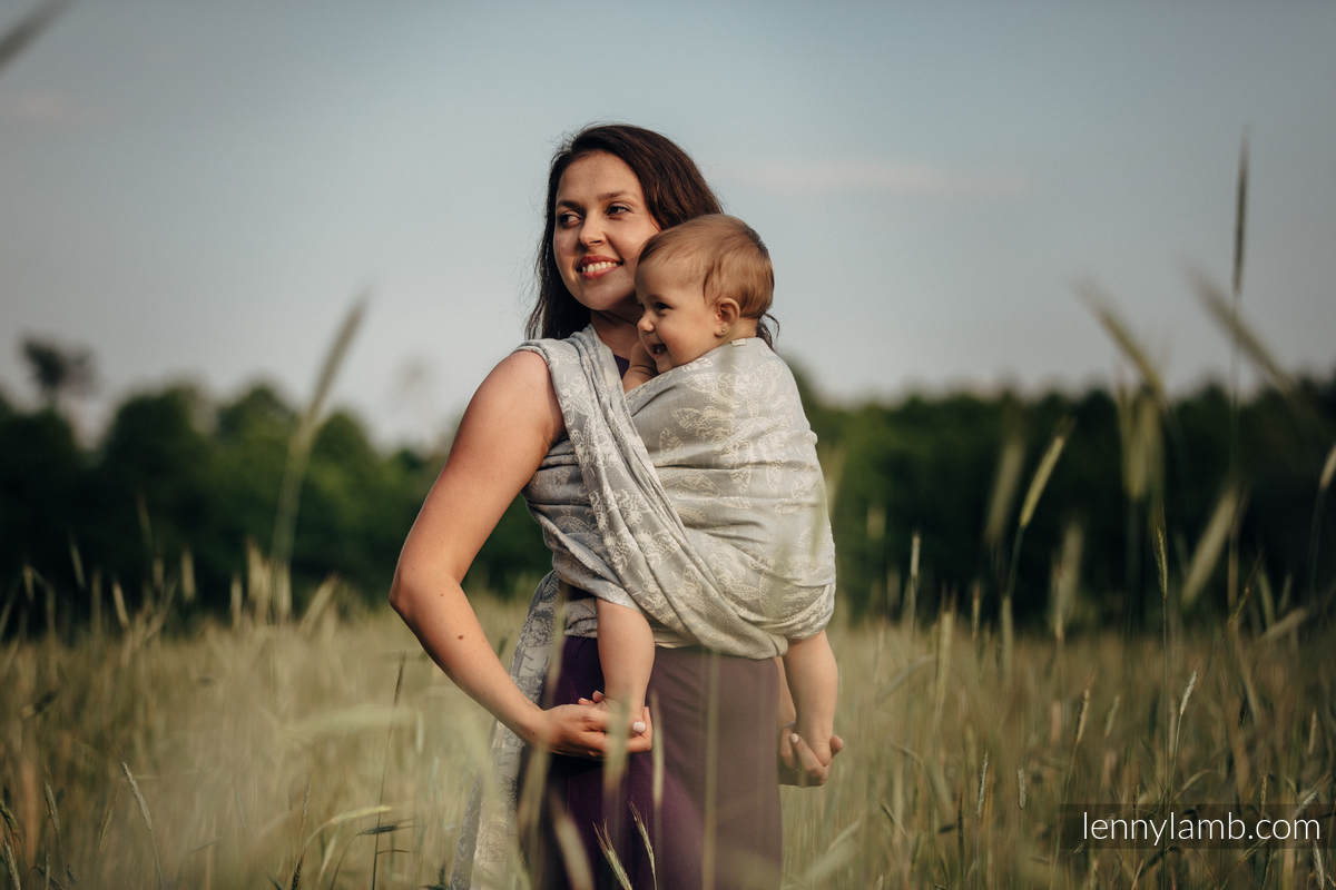 Baby Wrap, Jacquard Weave (65% cotton, 35% linen) - QUEEN OF THE NIGHT - ONLY SILENCE - size S #babywearing