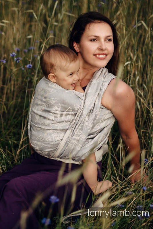 Baby Wrap, Jacquard Weave (65% cotton, 35% linen) - QUEEN OF THE NIGHT - ONLY SILENCE - size L #babywearing