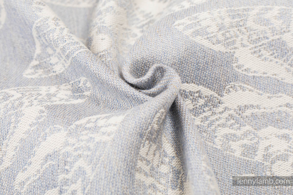 Baby Wrap, Jacquard Weave (65% cotton, 35% linen) - QUEEN OF THE NIGHT - ONLY SILENCE - size XL #babywearing