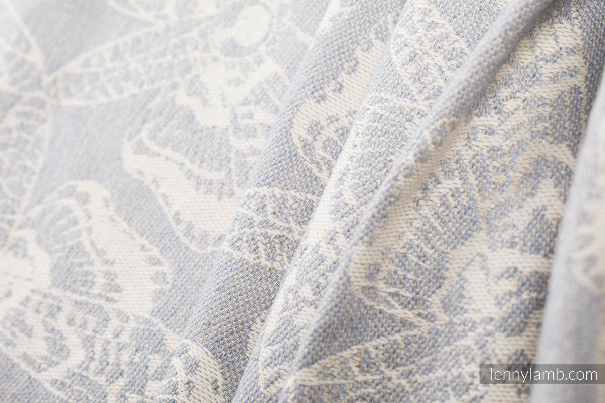 Baby Wrap, Jacquard Weave (65% cotton, 35% linen) - QUEEN OF THE NIGHT - ONLY SILENCE - size M (grade B) #babywearing