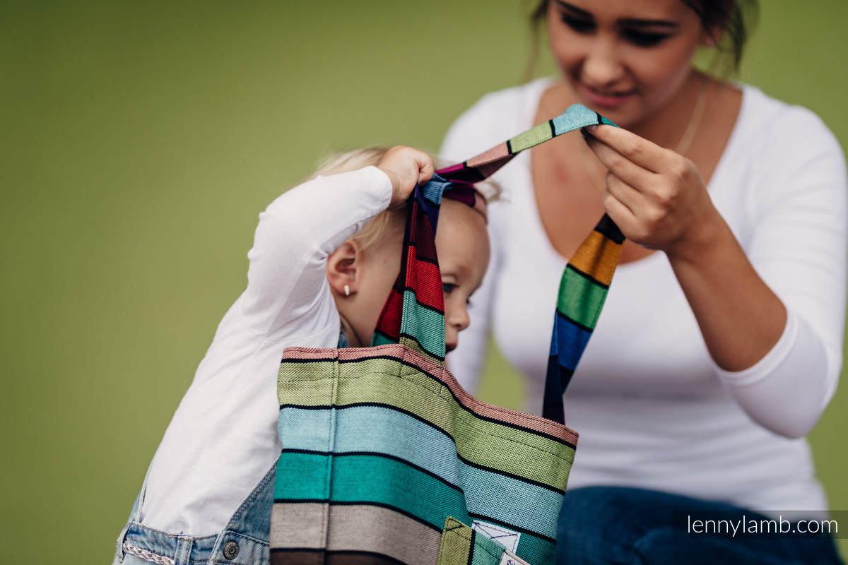 Shoulder bag made of wrap fabric (100% cotton) - CAROUSEL OF COLORS - standard size 37 cm x 37cm  #babywearing