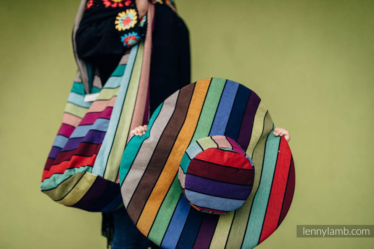 Torba Hobo z materiału chustowego, (100% bawełna) - KARUZELA BARW #babywearing