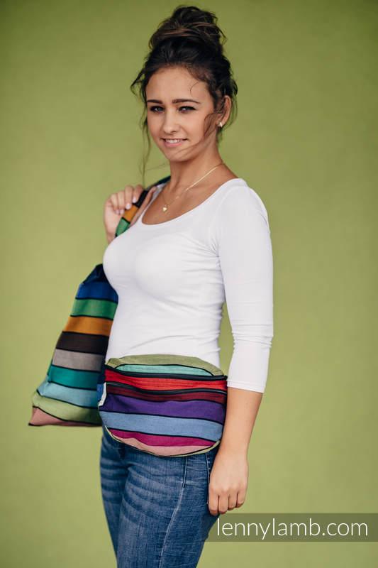 Riñonera hecha de tejido de fular, talla grande (100% algodón) - CAROUSEL OF COLORS #babywearing