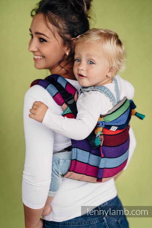 Nosidło Klamrowe ONBUHIMO z tkaniny skośno-krzyżowej (100% bawełna), rozmiar Standard - KARUZELA BARW #babywearing