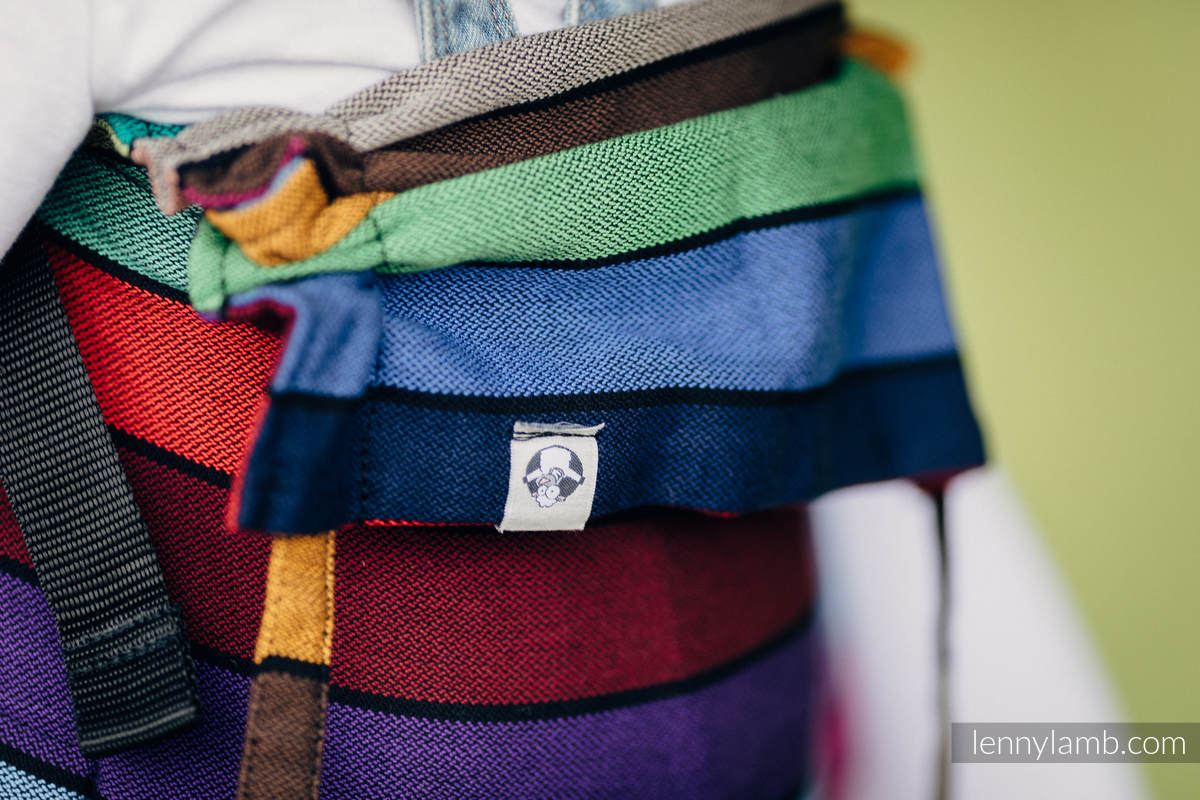Lenny Buckle Onbuhimo baby carrier, standard size, broken-twill weave (100% cotton) - CAROUSEL OF COLORS (grade B) #babywearing