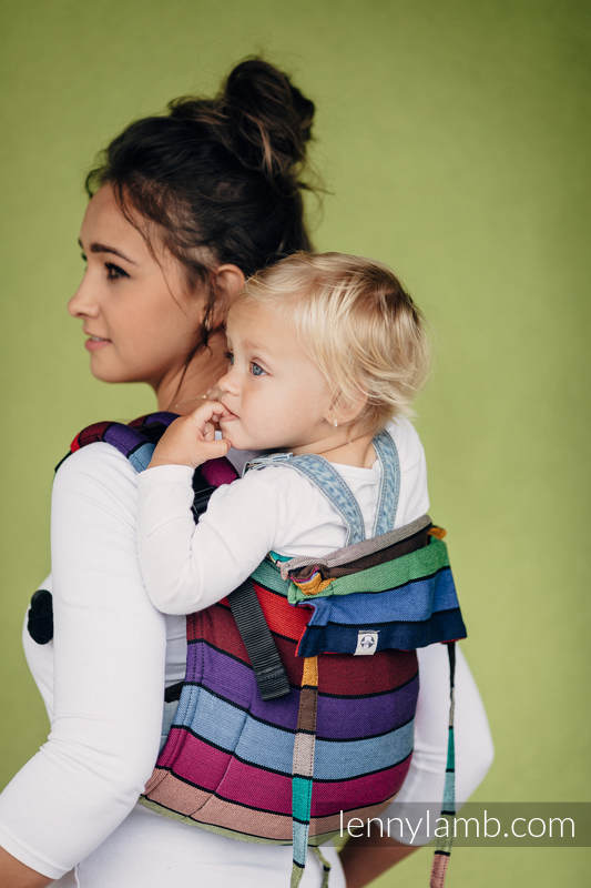 Lenny Buckle Onbuhimo, standard size, broken-twill weave (100% cotton) - Wrap conversion from - CAROUSEL OF COLORS (grade B) #babywearing