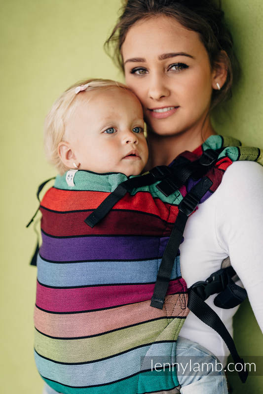 LennyUp Carrier, Standard Size, broken-twill weave 100% cotton - wrap conversion from CAROUSEL OF COLORS #babywearing
